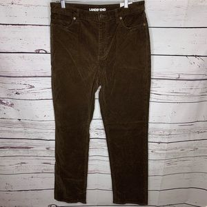 Lands End high rise skinny cords